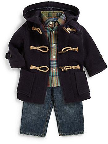 Ralph Lauren Infant's Two-Piece Matlock Plaid Shirt & Jeans Set
