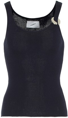 Coperni Embellished wool-blend tank top