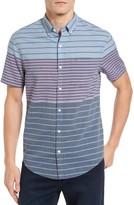 Original Penguin Men's Heritage Slim Fit Colorblock Stripe Shirt