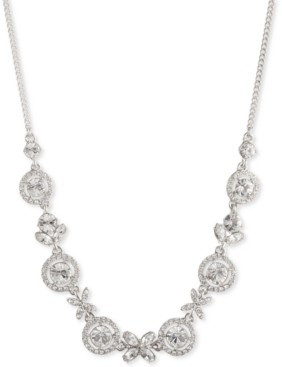 """Givenchy Multi-Crystal Collar Necklace, 16""""+ 3"""" extender"""