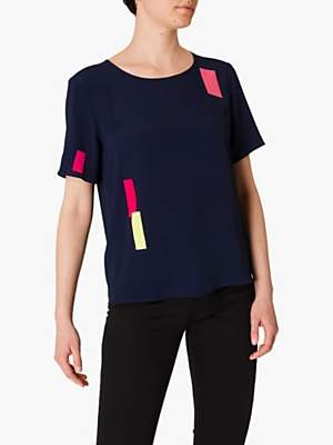 Paul Smith Silk Blend Blouse, Navy