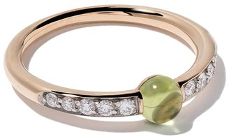 Pomellato 18kt rose gold M'ama non M'ama peridot & diamond ring