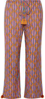 Figue Goa Printed Cotton-blend Wide-leg Pants - Pink