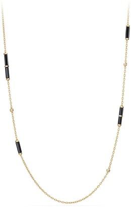 David Yurman Barrels Long Station Necklace with Diamonds