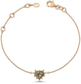 Champagne Diamond Heart Bracelet