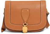 Valentino Garavani Small V-Locker Leather Saddle Bag