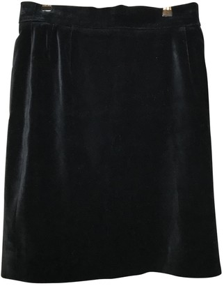 Escada Black Velvet Skirt for Women