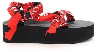 Arizona Love Trekky Bandana Strap Platform Sandals