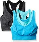 Spalding Women's Two Layer Longline Textured Seamless Bra 2-Pack