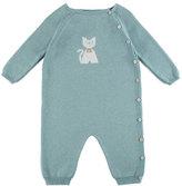 Pili Carrera Long-Sleeve Kitty Coverall, Aqua Blue, Size 3-12 Months