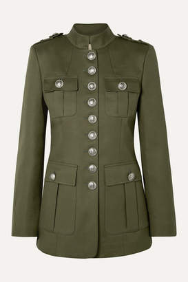 Michael Kors Cotton-twill Jacket - Army green