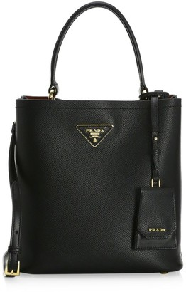 Prada Double Leather Bucket Bag