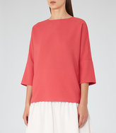 Reiss New Collection Bells Button-Back Top