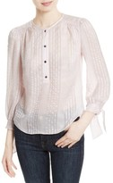 Rebecca Taylor Women's Stripe Silk Jacquard Top