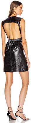 Helmut Lang Open Back Leather Dress in Ink | FWRD