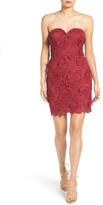 As U Wish Secret Charm Strapless Lace Sheath Dress