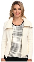 Nic+Zoe Foiled Knit Moto Jacket