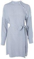 Topshop Stripe button neck shirt dress