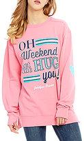 Jadelynn Brooke Oh Weekend Long-Sleeve Graphic Sweatshirt