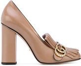 Gucci fringed pumps - women - Leather/Kid Leather - 36