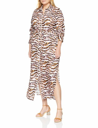 LOST INK PLUS Women's Maxi Shirt Dress in Animal Print Party