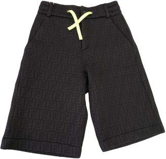 Fendi Black Cotton Shorts