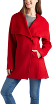 Laundry by Shelli Segal Red Oversize Lapel Wool-Blend Jacket