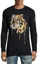 Robin's Jeans Golden Embellished Tiger Long-Sleeve T-Shirt, Black