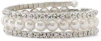 VIESTE ROSA Vieste Decree Crystal & Simulated Pearl Coil Bracelet