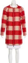Scotch & Soda Plaid Wool Blend Coat