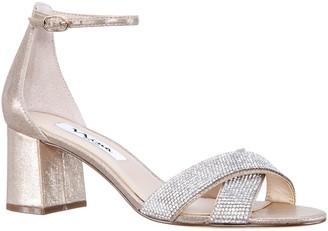 Nina Adjustable Cris Cross Block Heel Sandals -Nolita