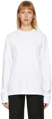 Noah NYC White Recycled Cotton Long Sleeve T-Shirt
