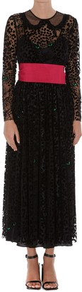 RED Valentino Leo Panther Long Dress