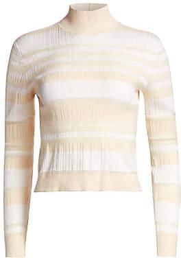 Proenza Schouler Women's Stripe Mockneck Top