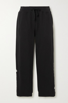 adidas by Stella McCartney Essentials Printed Cotton-jersey Track Pants - Black