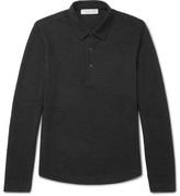 Orlebar Brown Linwood Slim-Fit Mélange Stretch-Merino Wool Polo Shirt
