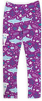 Urban Smalls Purple Cute Shark Leggings - Toddler & Girls