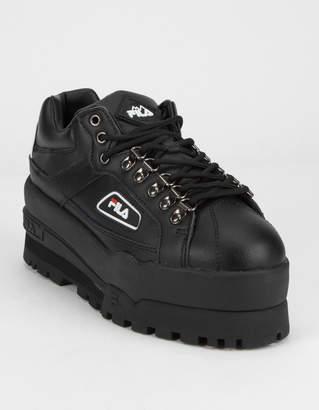 Fila Trailblazer Wedge Black Womens Platform Shoes