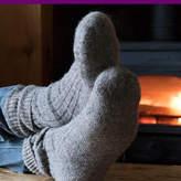 Laura's Loom Salted Wool Walking Socks