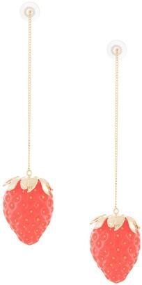 E.m. Strawberry Long Pendant Earrings
