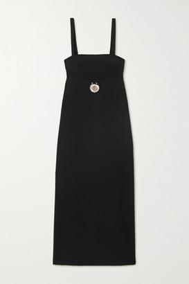 CHRISTOPHER ESBER Embellished Cutout Wool-blend Midi Dress - Black