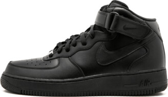 Nike Forcer 1 Mid 07 'Triple Black' Shoes - Size 9.5