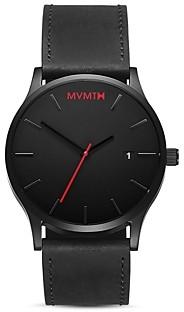 MVMT Classic Black Leather Watch, 45mm