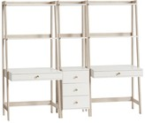 Pottery Barn Teen Highland Double Wall Desk & Narrow Bookcase Set