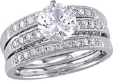 Women's Amour SHB000797 Diamond/White Sapphire Bridal Ring Set