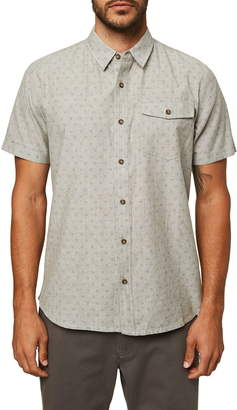O'Neill Modern Fit Short Sleeve Button-Up Chambray Shirt