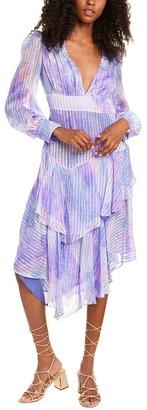 LoveShackFancy Meridian Silk Maxi Dress