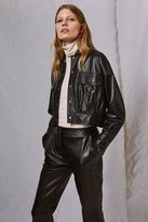 Boutique Leather kickflare trousers