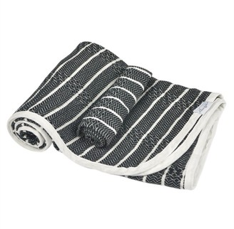 House Of Jude Hooded Turkish Towel and Wash Cloth Bundle Raven
