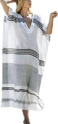 L Peach L-Peach Women's Lace Splicing Beach Maxi Dress Cover ups One Size